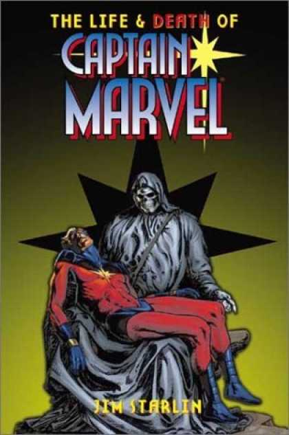 Bestselling Comics (2006) - Life And Death Of Captain Marvel TPB by Jim Starlin - Death - Captain Marvel - Grim Reaper - Black Robes - Sad