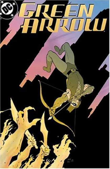 Bestselling Comics (2006) - Green Arrow: City Walls by Judd Winick - Robinhood - Bow And Arrow - Buildings - Flying - Hands