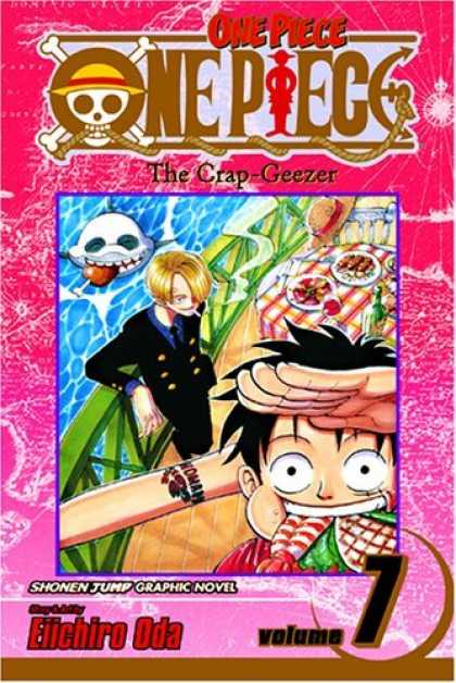 Bestselling Comics (2006) - One Piece Vol. 7: The Crap-Geezer - One Piece - Tattoo - Shark - Water - Table