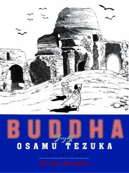 Bestselling Comics (2006) - Buddha, Volume 2: The Birth (Buddha (Paperback)) by Tezuka Osmau - Buddha - Dynasty Ruins - Hawks Flying Over - Wearing Hooded Capes - Archways