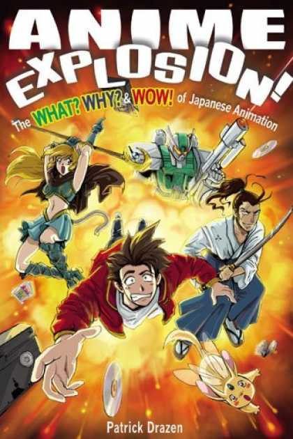 Bestselling Comics (2006) - Anime Explosion! The What? Why? & Wow! of Japanese Animation by Patrick Drazen - Sword - Fire - Fighting - Robot - Man