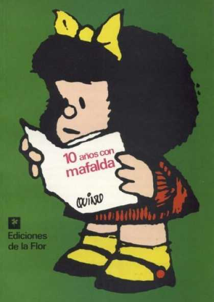 Bestselling Comics (2006) - 10 Años con Mafalda by Quino - Girl - Black Hair - Yellow Bow - Yellow Socks - Black Shoes