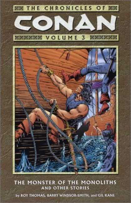 Bestselling Comics (2006) - The Monster of the Monoliths and Other Stories (Chronicles of Conan, Book 3) by - Ships - Boarding Action - Conan - Monster Of The Monoliths - Roy Thomas