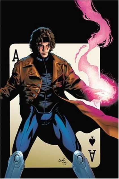 Bestselling Comics (2006) - Gambit: House of Cards (X-Men) by John Layman - Playing Card - Pink Smoke - Ace Of Spades - Long Jacket - Man