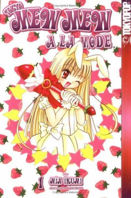 Bestselling Comics (2006) - Tokyo Mew Mew A La Mode, Vol. 1 by Mia Ikumi - Strawberries - Bunny Ears - Anime - Cute - Young Girl