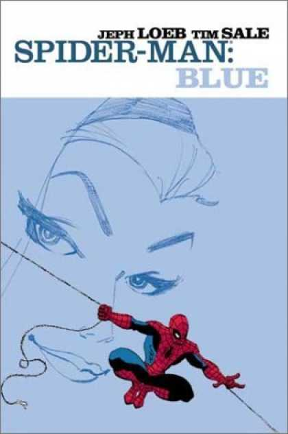 Bestselling Comics (2006) - Spider-Man: Blue by Jeph Loeb - Spider-man - Jeph Loeb - Tim Sale - Womans Face - Web