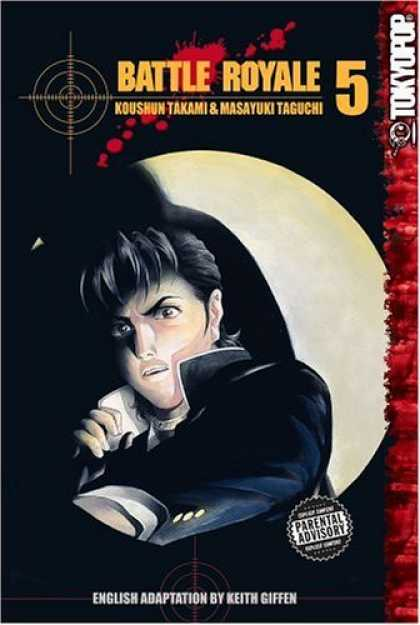 Bestselling Comics (2006) - Battle Royale, Vol. 5 by Koushun Takami - Man - Dark - Collar - Red - Hair Strands