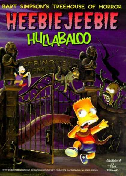 Bestselling Comics (2006) - Bart Simpson's Treehouse of Horror Heebie-Jeebie Hullabaloo (Bart Simpson's Tree - Bart Simpson - Krusty - Knife - Goblins - Cemetary