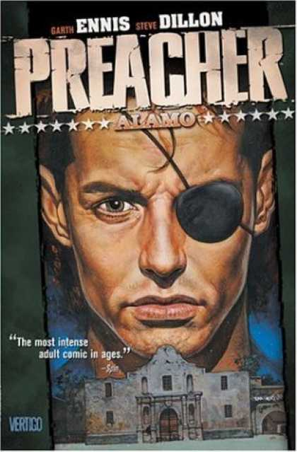 Bestselling Comics (2006) - Preacher Vol. 9: Alamo by Garth Ennis - Eye Patch - Intense - Vertigo - Alamo