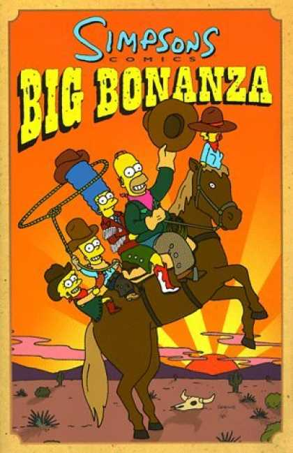 Bestselling Comics (2006) - Simpson's Big Bonanza by Matt Groening - Simpsons - Big Bonanza - Homer - Bart - Wild Wild West
