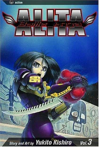 Bestselling Comics (2006) - Battle Angel Alita, Volume 3: Killing Angel (Battle Angel Alita) - Anime - Alita - Sword - Blade - Skull
