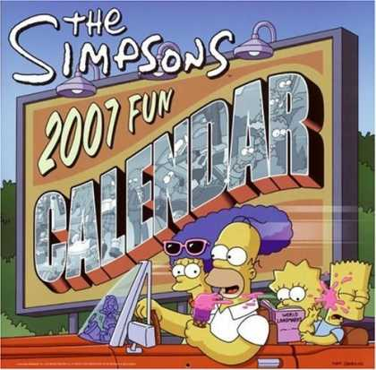 Bestselling Comics (2006) - The Simpsons 2007 Fun Calendar (Simpsons (Harper)) by Matt Groening