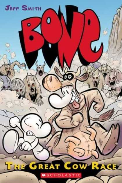 Bestselling Comics (2006) - Bone Volume 2: The Great Cow Race by Jeff Smith - Bone - Jeff Smith - The Great Cow Race - Stampede - Cow Costume