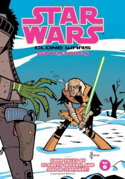 Bestselling Comics (2006) - Star Wars: Clone Wars Adventures, Vol. 6 by Haden Blackman - Clone Wars - Light Saber - Jedi - Planets In Peril - Volume 6