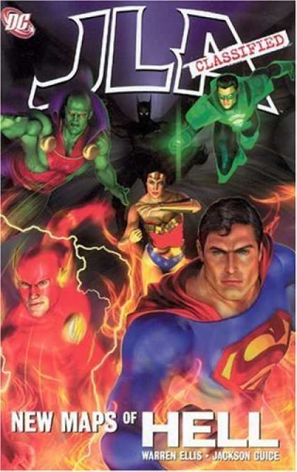 Bestselling Comics (2006) - JLA Classified: New Maps of Hell ((Justice League of America)) by Warren Ellis - New Maps Of Hell - Green Lantern And Friends - Wonderwoman In The Middle - Superman Leads The Pack - Batman In The Shadows