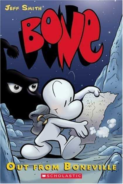 Bestselling Comics (2006) - Bone Volume 1: Out From Boneville by Jeff Smith - Bone - Out From Boneville - Jeff Smith - Map - Evil Ghost