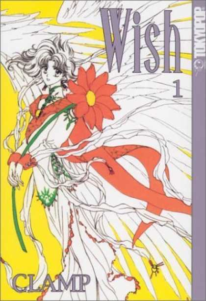 Bestselling Comics (2006) - Wish #1 by Clamp - Flower - Girl - Angel Wings - White And Red - Flowing