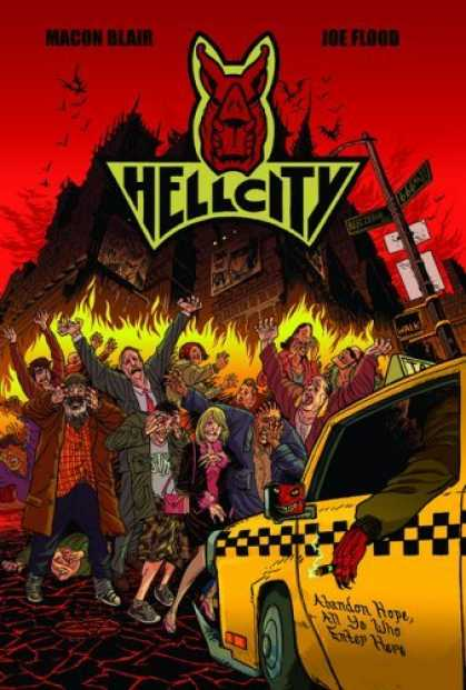 Bestselling Comics (2006) - Hellcity by Macon Blair - Taxi Cab - Fire - Burning - Pain - Agony