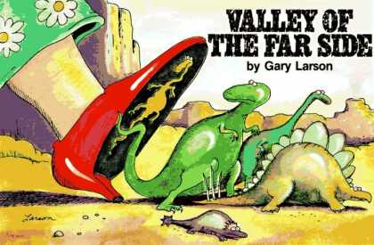 Bestselling Comics (2006) - Valley of the Far Side by Gary Larson - Small Dinosaurs - Gary Larson - Valley Of The Far Side - Red Pumps - Desert