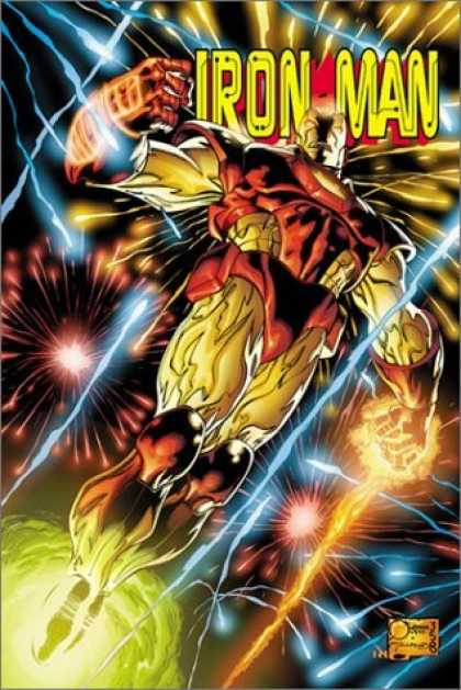 Bestselling Comics (2006) - Iron Man: The Mask in the Iron Man by Joe Quesada - Lightning - Bolt - Stunning - Superhero - Flight