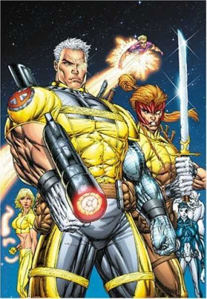 Bestselling Comics (2006) - X-Force & Cable Volume 1: The Legend Returns TPB by Rob Liefeld - Strong - Superhero - Powerful - Intimidating - Angry