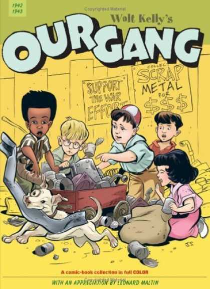 Bestselling Comics (2006) - Our Gang Vol. 1 (Walt Kelly's Our Gang) by Walt Kelly - Dog - Wagon - Fence - Sign - Scrap Metal