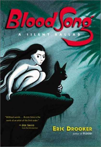 Bestselling Comics (2006) - Blood Song: A Silent Ballad by Eric Drooker - Woman - Dog - Cliff - Dark - Trees