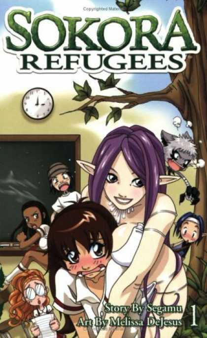 Bestselling Comics (2006) - Sokora Refugees, Vol. 1 by Segamu - Elves - Trees - Shocked Expressions - Clock - Purple Hair