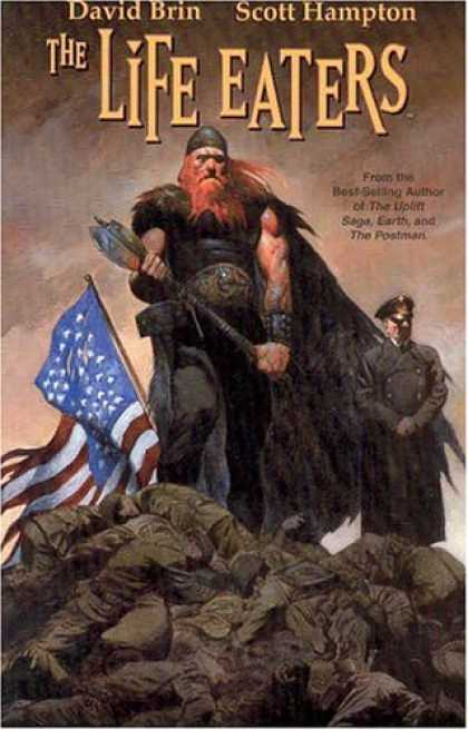 Bestselling Comics (2006) - The Life Eaters by David Brin - Viking - American Flag - Bodies - Ax - Red Beard
