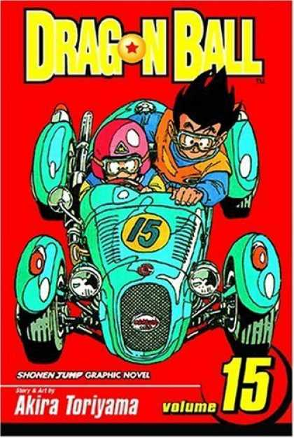 Bestselling Comics (2006) - Dragon Ball Volume 15 (Dragon Ball) - Race Car - Number 15 - Racing Goggles - Helmet - Headlights