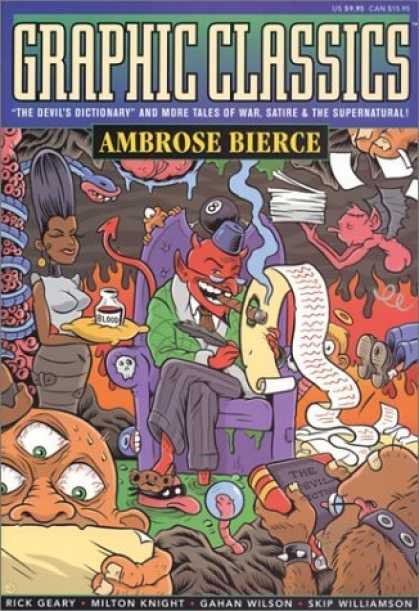 Bestselling Comics (2006) - Graphic Classics Volume 6: Ambrose Bierce (Graphic Classics (Graphic Novels)) by - Ambrose Bierce - Devil - Hell - African American - Cigar