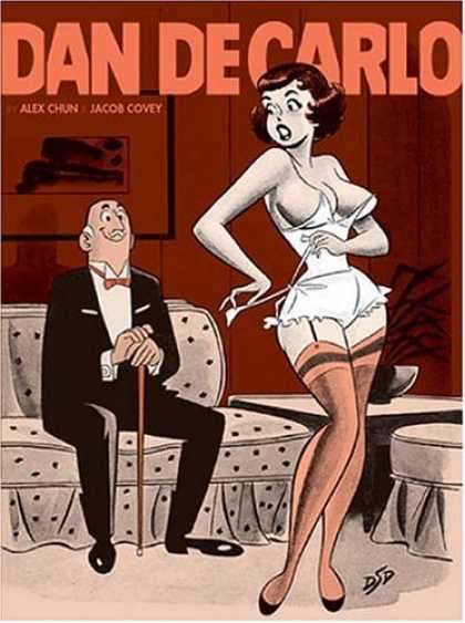 Bestselling Comics (2006) - The Pin-up Art of Dan DeCarlo by Alex Chun - Old Man - Girl - Couch - Tuxedo - Undressing