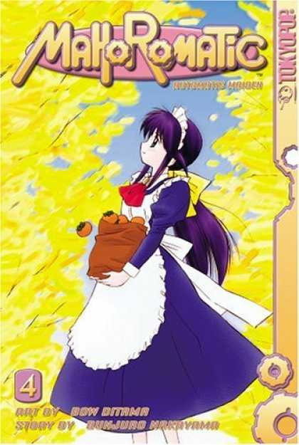 Bestselling Comics (2006) - Mahoromatic: Automatic Maiden, Vol. 4 by Bunjuro Nakayama - Girl - Purple Dress - Apron - Fruit - Sack