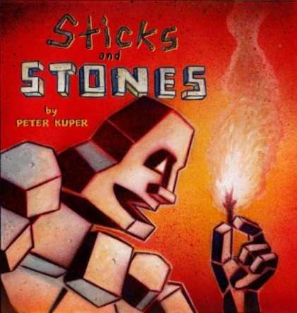 Bestselling Comics (2006) - Sticks and Stones by Peter Kuper - Sticks And Stones - Peter Kuper - Stone Man - Fire - Smoke