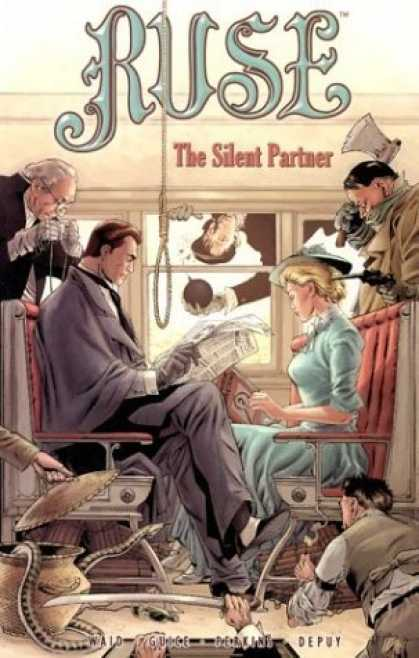Bestselling Comics (2006) - Ruse: The Silent Partner (Ruse) by Mark Waid - Ruse - The Silent Partner - Men - Woman - Gun