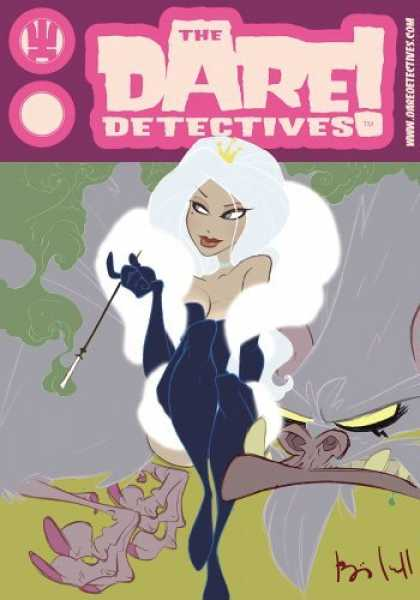 Bestselling Comics (2006) - The Dare Detectives Volume 2: The Royale Treatment (Dare Detectives) by Ben Cald - The Dare Detectives - Female - Vixen - White Hair - Black Dress