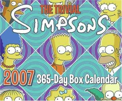 Bestselling Comics (2006) - The Trivial Simpsons 2007 365-Day Box Calendar by Matt Groening - Simpsons - Trivia - Homer - Bart - Lisa