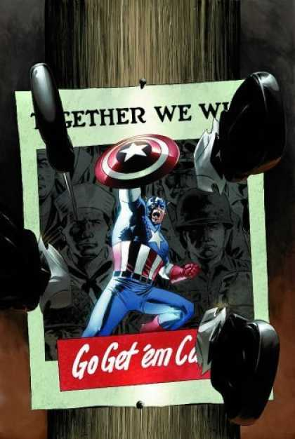 Bestselling Comics (2006) - Captain America: Red Menace, Vol. 1 by Ed Brubaker - Superhero - Captain America - Knifes - Shield - Poster
