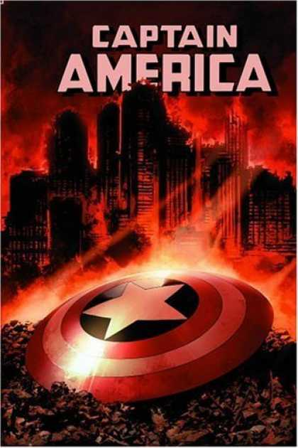Bestselling Comics (2006) - Captain America: Winter Soldier, Vol. 2 by Ed Brubaker - City - Fire - Red - Disk - Flames