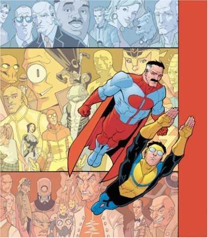 Bestselling Comics (2006) - Invincible: The Ultimate Collection, Vol. 1 by Robert Kirkman - One-eyed Alien - Monsters - Red Costume - Yellow - Black