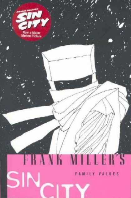 Bestselling Comics (2006) - Family Values (Sin City, Book 5: Second Edition) by Frank Miller - Starry Sky - Ninja - Mask - Night - Pink Banner