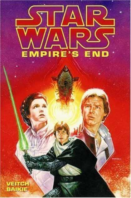 Bestselling Comics (2006) - Empire's End (Star Wars: Dark Empire Series) by Tom Veitch - Luke Skywalker - Han Solo - Leia Organa - Light Saber - Veitch Baikie
