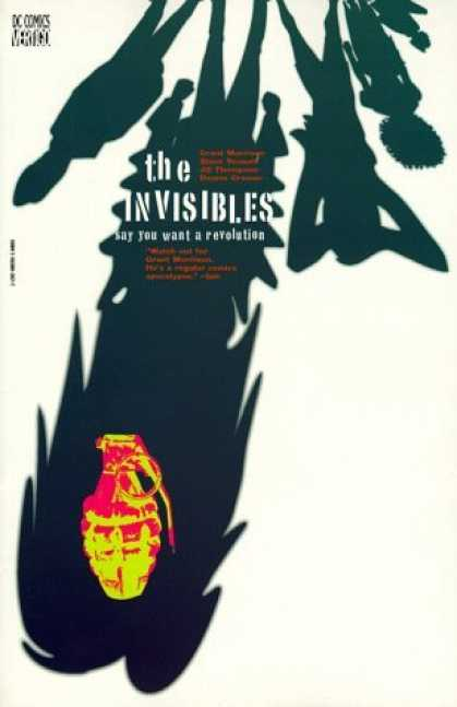 Bestselling Comics (2006) - The Invisibles Vol. 1: Say You Want a Revolution by Grant Morrison - Shadows - Say You Want A Revolution - Grenade - Black - White