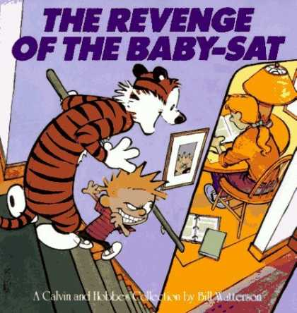 Bestselling Comics (2006) - The Revenge Of The Baby-Sat by Bill Watterson - Calvin And Hobbes - Reading - Sneaking - Stairs - Cunning
