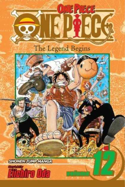Bestselling Comics (2006) - One Piece, Volume 12 (One Piece (Graphic Novels)) by Eiichiro Oda - One Piece - Skull - The Legend Begins - Eiichiro - Oda