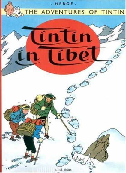 Bestselling Comics (2006) - Tintin in Tibet (The Adventures of Tintin) by Herge - The Adventures Of Tintin - Herge - Tibet - Mountain Climbing - Footsteps