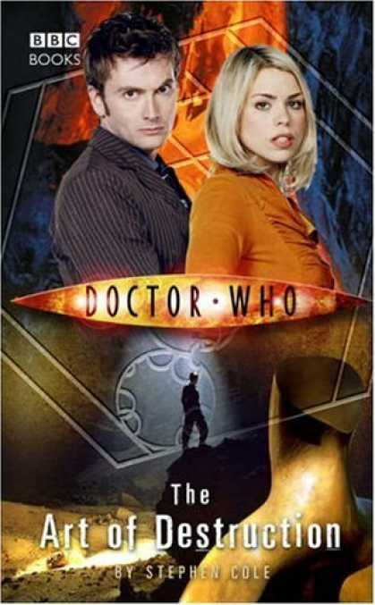 Bestselling Comics (2006) - Doctor Who: The Art Of Destruction (Doctor Who) by Stephen Cole - Doctor Who - Stephen Cole - Orange Shirt - Striped Shirt - Blonde Girl
