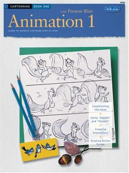 Bestselling Comics (2006) - Cartooning: Animation 1 with Preston Blair (HT26) by Preston Blair - Preston Blair - Sketch - Squirrel - Pencils - Birds