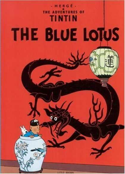 Bestselling Comics (2006) - The Blue Lotus (The Adventures of Tintin) by Herge - Dragon - Man - Dog - Lamp - Red