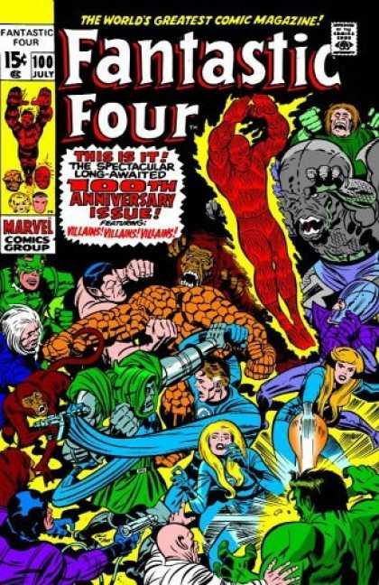 Bestselling Comics (2006) - Essential Fantastic Four, Vol. 5 (Marvel Essentials) by Stan Lee - Anniversary - Group - Marvel - Battle - Human Torch
